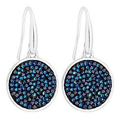 Jon Richard - Crystal rocks disc earrings created with Swarovski crystals