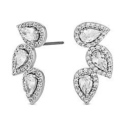 Jon Richard - Peardrop cluster earrings