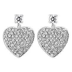Jon Richard - Pave heart drop earrings