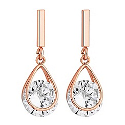 Jon Richard - Cubic zirconia drop earrings