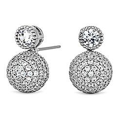 Jon Richard - Pave orb drop earrings