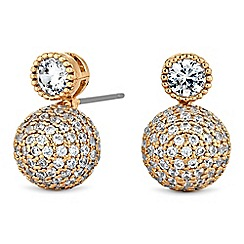 Jon Richard - Pave orb drop earrings