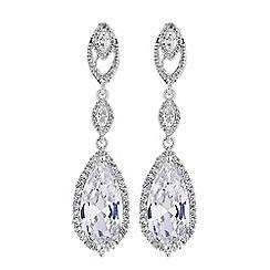 Jon Richard - Ornate pear drop earrings