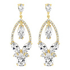 Alan Hannah Devoted - Designer crystal open pear drop earrings