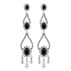 Alan Hannah Devoted - Designer halo statement drop earrings