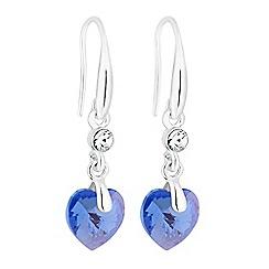 Jon Richard - Shimmer heart drop earrings created with Swarovski crystals