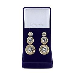 Jon Richard - Gold cubic zirconia graduated drop earrings
