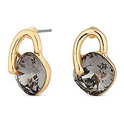 Jon Richard - Gold crystal loop stud earrings embellished with Swarovski crystals