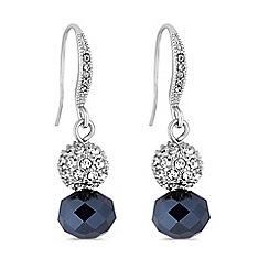 Jon Richard - Silver blue bead and pave orb drop earrings