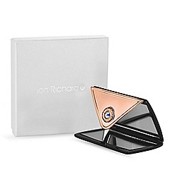 Jon Richard - Navy envelope compact mirror created with Swarovski crystals