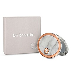 Jon Richard - Cream marble oval compact mirror embellished with swarovski crystals