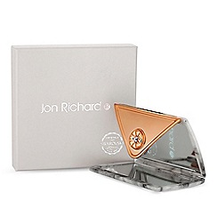 Jon Richard - Cream marble envelope compact mirror embellished with swarovski crystals