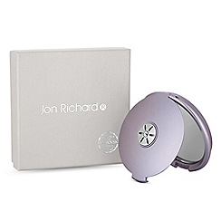 Jon Richard - Purple round compact mirror embellished with swarovski crystals