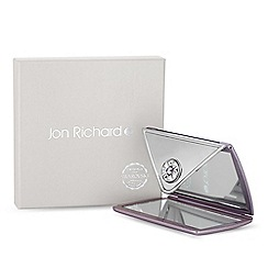 Jon Richard - Purple envelope compact mirror embellished with swarovski crystals