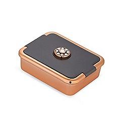 Jon Richard - Rose gold and grey pill box embellished with Swarovski crystals