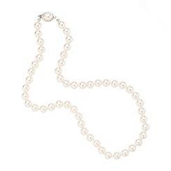 Jon Richard - Pearl necklace oval clasp