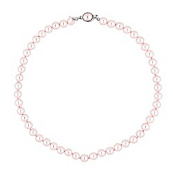 Jon Richard - Pink pearl oval clasp necklace