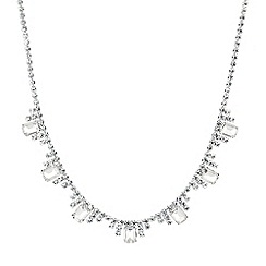 Jon Richard - Catherine diamante baguette necklace
