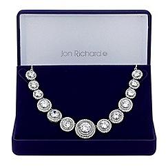 Jon Richard - Silver graduated circle necklace