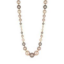 Jon Richard - Champagne pearl statement necklace