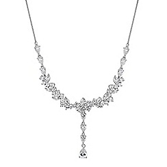 Alan Hannah Devoted - Designer cubic zirconia y drop necklace