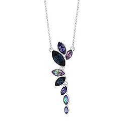 Jon Richard - Tonal graduated crystal necklace made with Swarovski crystals