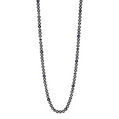 Jon Richard - Charcoal pearl long necklace