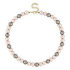 Jon Richard - Tonal pink pearl necklace