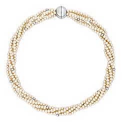 Jon Richard - Cream pearl twist necklace