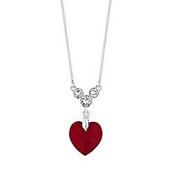 Jon Richard - Heart drop necklace created with Swarovski crystals