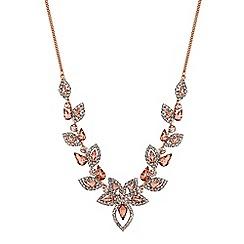 Jon Richard - Blush pink crystal floral necklace