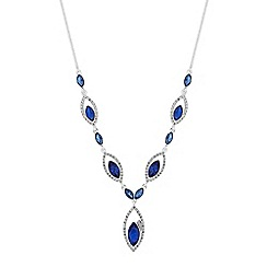 Jon Richard - Diamante open navette necklace