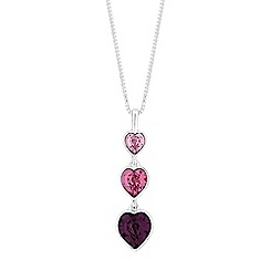 Jon Richard - Graduated heart necklace created with swarovski crystals
