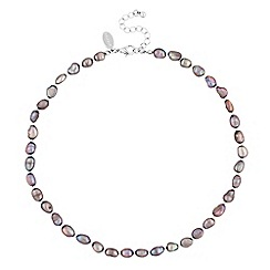 Jon Richard - Tonal grey freshwater pearl necklace