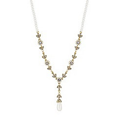 Alan Hannah Devoted - Designer floral pearl y necklace