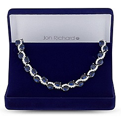 Jon Richard - Cubic zirconia wave necklace in a gift box