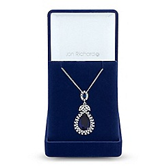 Jon Richard - Peardrop and leaf necklace in a gift box
