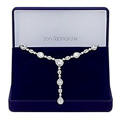 Jon Richard - Cubic zirconia peardrop necklace in a gift box