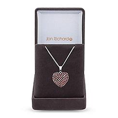 Jon Richard - Cubic zirconia pave heart necklace