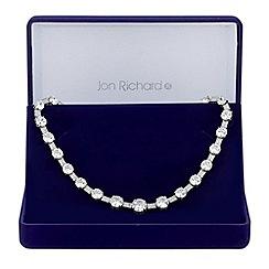 Jon Richard - Graduated cubic zirconia necklace