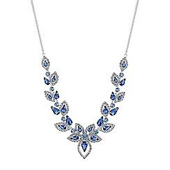 Jon Richard - Tonal blue floral necklace