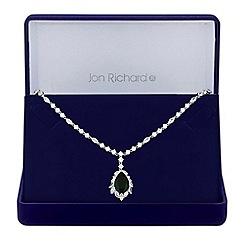 Jon Richard - Cubic zirconia statement pendant necklace