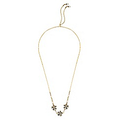 Alan Hannah Devoted - Designer flower and pearl toggle necklace