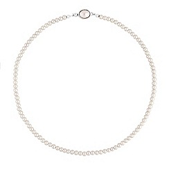 Jon Richard - Cream pearl clasp necklace
