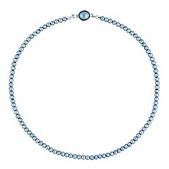 Jon Richard - Blue pearl clasp necklace