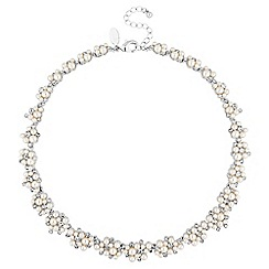 Alan Hannah Devoted - Designer pearl and crystal cluster necklace