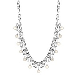 Jon Richard - Diamante pearl drop statement necklace