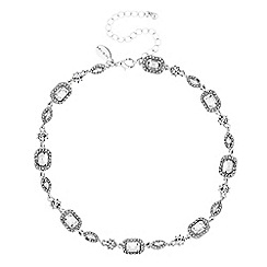 Jon Richard - Crystal baguette necklace