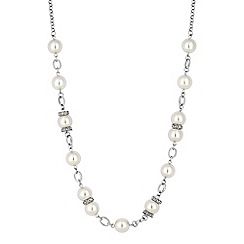 Jon Richard - Pave pearl rope necklace