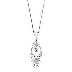 Alan Hannah Devoted - Designer crystal open pear drop necklace